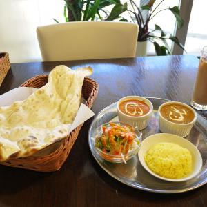 バターチキンカレーとキーマカレー 【辻堂 TANDOOR GUARD Cafe(タンドールガードカフェ)】