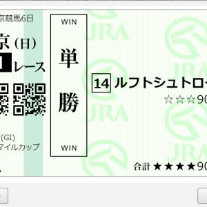 第25回 NHKマイルカップGⅠ 購入