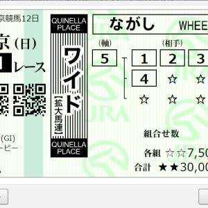 第87回 東京優駿GⅠ 購入