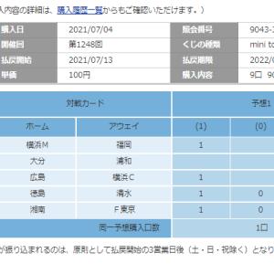 第1248回 mini toto-A組(マルチ) 購入