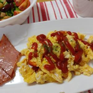 夫の朝食作り