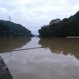 間瀬湖に行ってきた。台風の爪痕