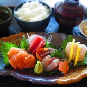 ドバイ刺身定食食べ比べ