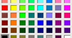 液晶画面の色再現性