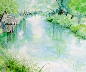 安曇野・大王わさび農場の水車小屋