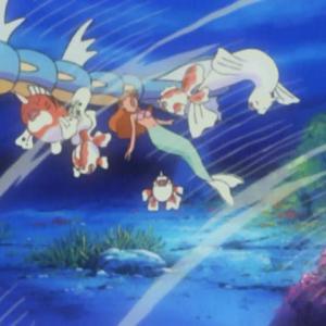 「ドククラゲに攻撃される初代ヒロイン」ポケットモンスター サイドストーリー