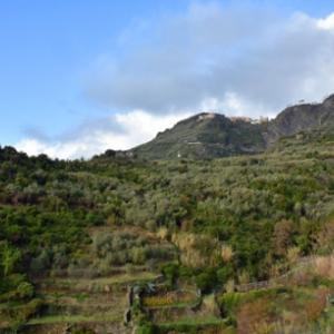 季節はずれのチックエテッレ 2日目(6)チンクエテッレ周遊。天候回復!ようやく青空のコルニリア。