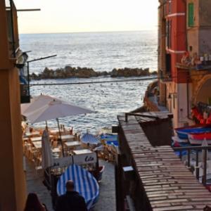 季節はずれのチックエテッレ 2日目(9)チンクエテッレ周遊。リオマッジョーレで夕ごはん。