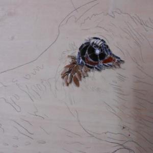 タイル屋さんのおかみさん教室と空の湯の下絵