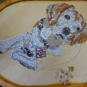 ウチの犬のリピータ―さん教室と鬼滅の刃のモザイク