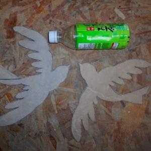 カサブランカのモザイクと青い鳥の下地