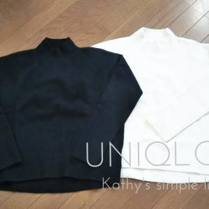 【wardrobe】スフレヤーンモックネックニット*UNIQLO