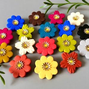 お花のブローチの作り方動画がついに完成