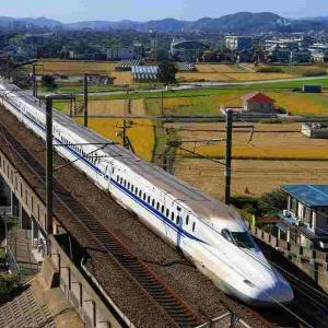 夕刻の新幹線を望む!