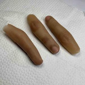 Finger prosthesis (removing excess silicone)