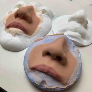 鼻のエピテーゼと眼窩のエピテーゼ