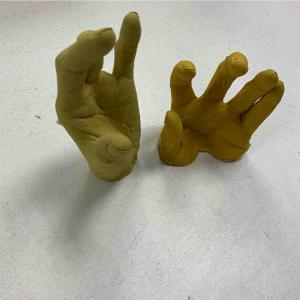 Finger prosthesis wax try-in