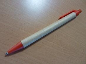 紙製のボールペン、今日から使ってみます。