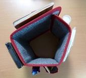 サイズが変わるバッグインポケット、これは便利です。
