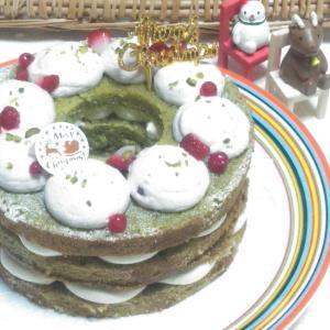 【クリスマスレッスン】抹茶のケーキでリース