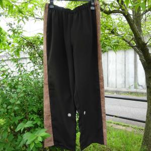 喪服と余り布からパンツ