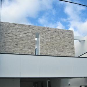 京都市北区紫竹の家・工事中|足場撤去,壁紙