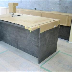 キッチン・ボロン・手摺・タイル・木製建具|京都市北区紫竹の家