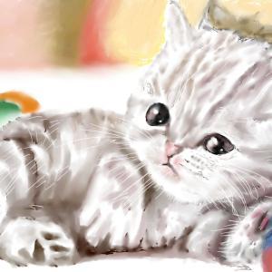 動物画 「癒しの子猫」