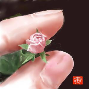 植物画 「ミニ薔薇」