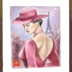 人物画 「パリジェンヌ」