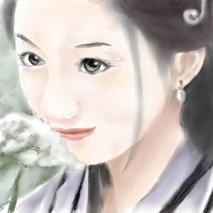 人物画 「中国美人」