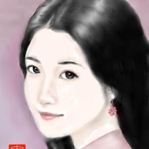 人物画 「中国美人」 3