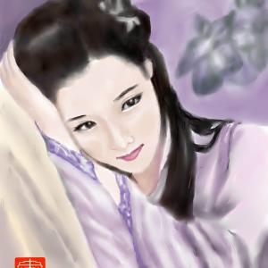 人物画 「中国美人」 4
