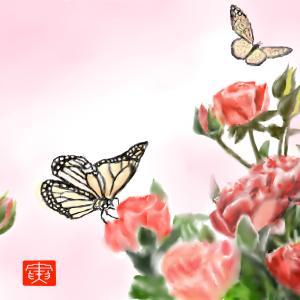 春の訪れ 「花と蝶3」