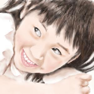 夏の思い出 「笑顔の少女」