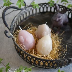 【新作】ビオラレリーフのエッグキャンドルでイースター♪