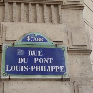 近場の散歩はR.du Louis-Philippe(ルイ・フィリップ通り)