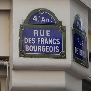 R.des Francs Bourgeois(フラン・ブルジョワ通り)その1