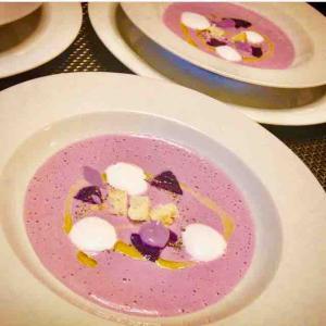 紫芋のポタージュスープ \( ¨̮ )/♡