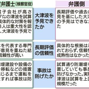 裁判長 巨大津波の予見できず(東電旧経営陣3人に無罪)