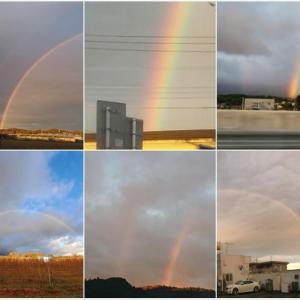 朝虹が出現・ダブルレインボーも/関東では鮮やかな朝焼け/巨大なつるし雲/ケムトレイル