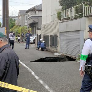 調布 住宅街で陥没から1年/リニア初の大深度地下工事、JR東海