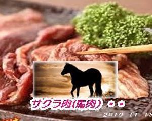 馬肉(サクラ肉)は高価・・・