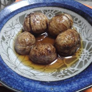 栗の渋皮煮と芋のつる(笑)
