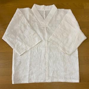 白絣の着物シャツ