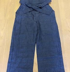 黒絣の袴パンツ