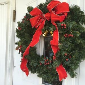 今年もドア飾り