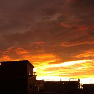 昨日の夕焼けは凄かったなぁ~‼ (*゚∀゚) スゴイ 迫力❗❗