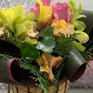 今週の玄関を彩るお花たち🌺