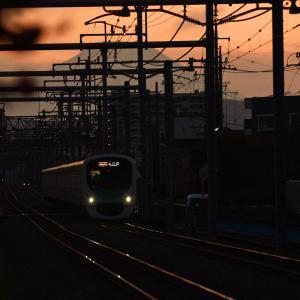 西武新宿線と富士山